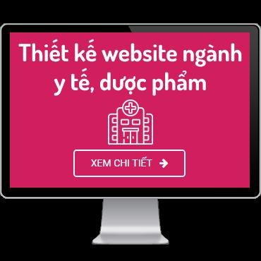 Thiết kế website ngành y tế, dược phẩm